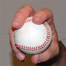 4 seam baseball grip